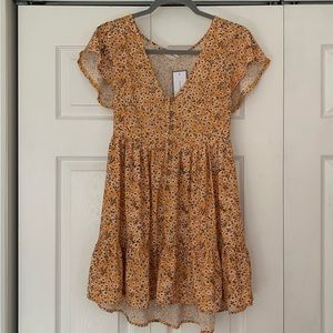 NWT Goodnight Macaroon yellow floral dress